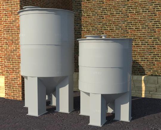 Бункер для хранения сыпучих материалов с коническим днищем