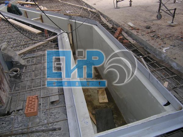 Футеровка железобетонных колодцев и резервуаров
