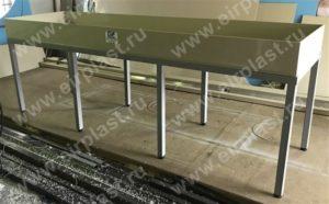 мебель для лабораторий, химически стойкая мебель, промывной стол для лаборатории